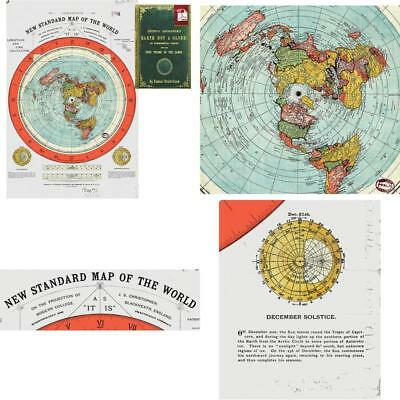 Flat Earth Map Gleason S New Standard Map Of The World Large 24