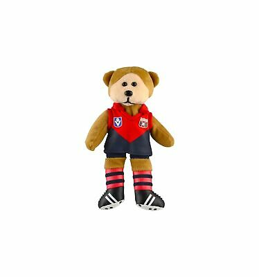 Melbourne Demons Heritage Player Bear Official AFL Beanie Kid 21cm Collectable