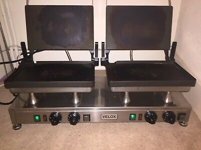 Velox Silesia double smooth Grill and Double Panini Press Machine