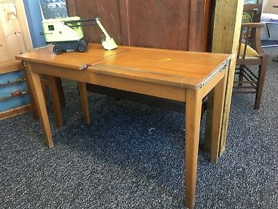 Vintage Antique Childs Pine Double Desk
