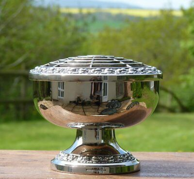 Vintage Ianthe Silver Plated Rose Bowl * Wedding Shabby Chic Table Flower Vase