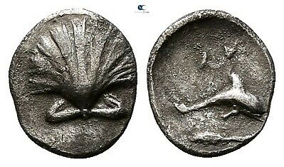 Savoca Coins Calabria Tarentum Litra Shell Dolphin Silver 0,33g/8mm $KBP2788