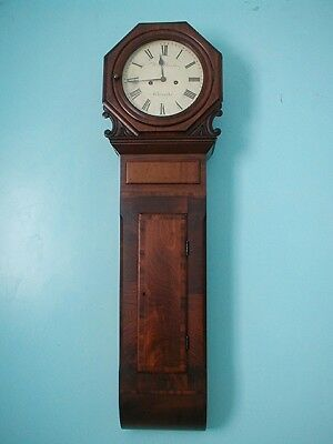 Fabulous 8 Day Slim Tavern Clock Working Order Excellent Proportions
