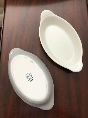 """SS UNITED STATES LINES  """"Hall China"""" Large Scollop Bowls- Set of 12"""