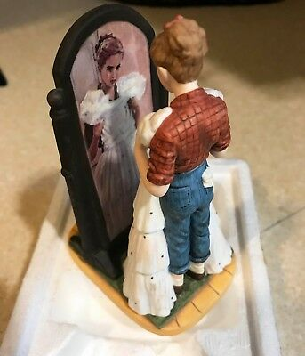 1987 Norman Rockwell Figurine The Prom Dress Gorham Sat Evening Post MIB