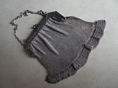 Antique, Victoria Edwardian chainmail coin purse exquisite workmanship.
