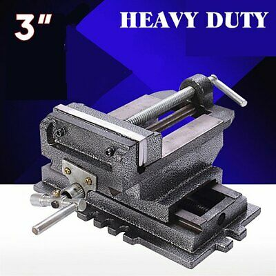 "3"" cross slide vise drill press metal milling 2 way x-y heavy duty clamp B2"