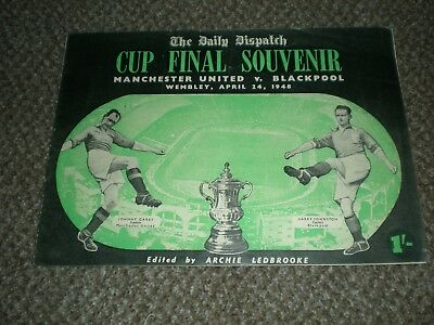 1948 CUP FINAL SOUVENIR-B'POOL v MAN/MANCHESTER UNITED/UTD + 1998 C SHIELD PROG