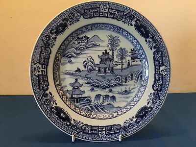 Antique Chinese Export Blue White Plate