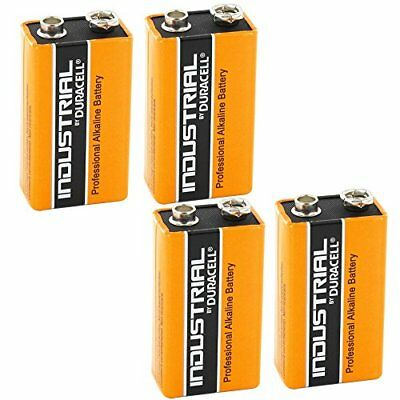 4X New Original Duracell Industrial 9V PP3 MN1604 Block Alkaline Batteries ...
