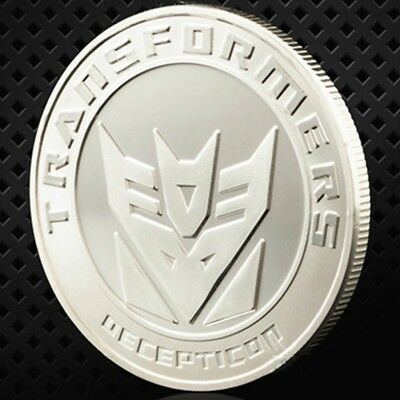 The Avengers Alliance Transformers Iron Man Comic Hero Silver Souvenir Coins