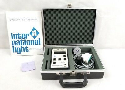 International Light IL 1400A   Radio Meter in Case with Manual.. RADIOMETER
