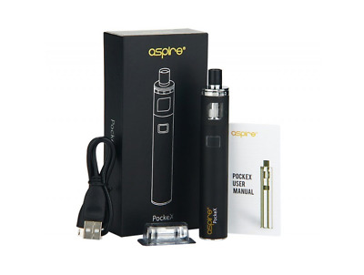 ORIGINAL Aspire PockeX All-in-One E-Zig Vape Pen (Schwarz / Rainbow)