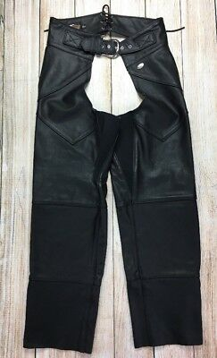 Genuine Harley-Davidson Women's Sz Large Leather CHAPS, Motorcycle C373