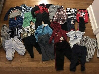 Huge Lot Of Baby Boys Clothes Size 6-9 Months and 9 months - 25 Pieces