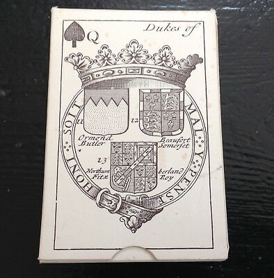 Vintage 1970s Arms of English Peers 17th Century Reproduction Playing Cards