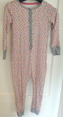 Next Girls Age 6 Sleep Suit All In One. Multicoloured Heart Print Cotton.