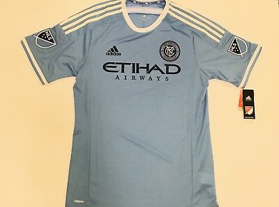new product dd9c4 cd1be Authentic MLS official Adidas New York City FC Jersey Away men s large