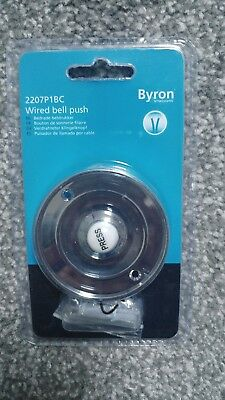 Byron 2207/P1BC Traditional Circular Wired Bell Push Chrome