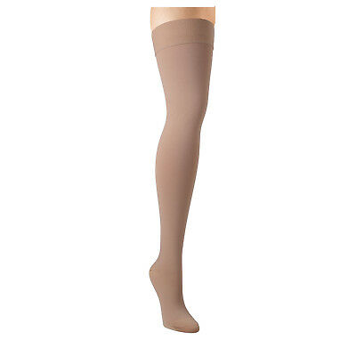 78148296b Support Plus Women s Firm Compression Hose - Opaque Thigh High Closed Toe  Beige
