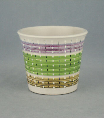 Superb !! Vintage 1950's  Denby Burlington Multi Rainbow Planter 13.5Cm Diameter