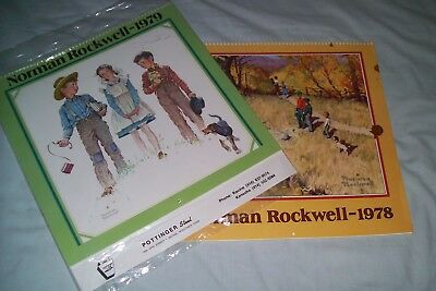 2 - Norman Rockwell 1978 Promotional Calendars