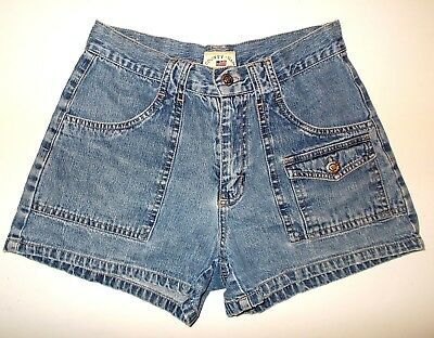 Vintage 90s County Seat Blue Jeans Short-Shorts Sz 1/2 GREAT COND!