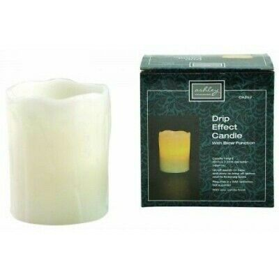 Battery Operated Candle - LED Flameless Light Flickering Effect & Real Wax Tea