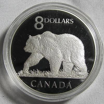 "Canada 2004 Silver $8 ""Grizzly Bear""  Proof in Capsule"