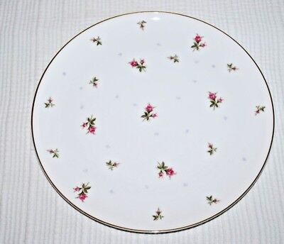 Vintage Sango Fine China Chintz Pink Rose With Gold Trim Dinner Plate Japan