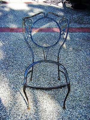 Two Vintage Wrought Iron Garden Chairs