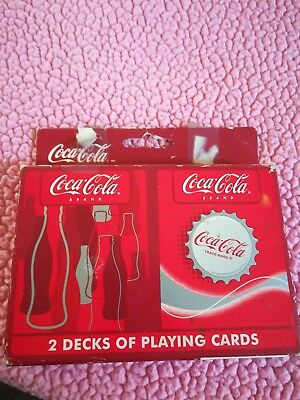 official Coca-Cola 2 deck playing cards