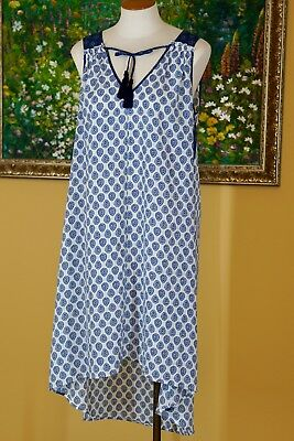 RACHEL ZOE for A PEA IN THE POD Maternity Dress Size Large Blue White