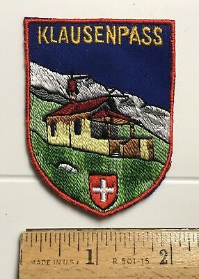 Klausenpass Klausen Pass Swiss Alps Switzerland Souvenir Embroidered Patch Badge