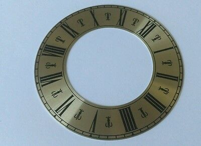 Clock Chapter/Hour Ring Brass Coloured Aluminum Roman 99mm Outside 58mm Inside
