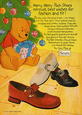 1970s Print AD, Winnie The Pooh Kid's Shoe Collection at Sears Christmas  082214