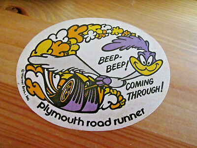Plymouth Road Runner Vintage STICKER DECAL