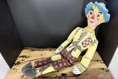 """Vintage Ralston Purina Chex Cereal Scarecrow Fabric Soft Plastic Rag Doll 21"""""""