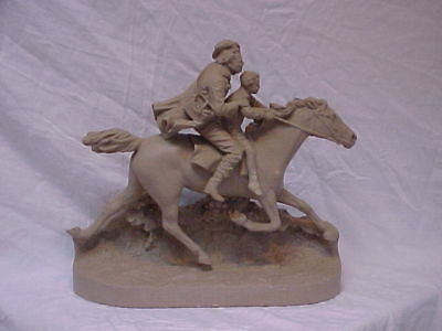 John Rogers Group of Statuary 'FETCHING THE DOCTOR ' Horse Sculpture