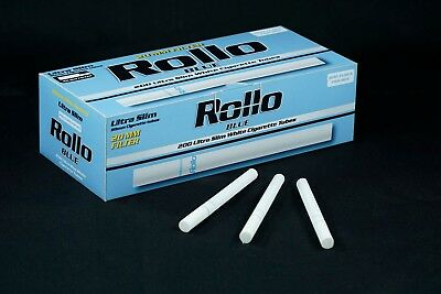 1200 ROLLO BLUE ULTRA SLIM Tobacco Cigarette filter tubes Memphis venti