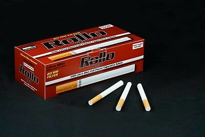 600 ROLLO RED ULTRA SLIM Tobacco Cigarette filter tubes Memphis venti