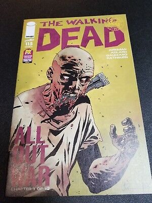 The Walking Dead #115  Ultra Rare Px New York Comic Con Variant All Out War Nm