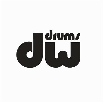 DW Drums Percussion Music Vinyl Die Cut Car Decal Sticker-FREE SHIPPING