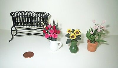Dollhouse Lot Artist - Miniature VINTAGE FLOWER ACCESSORY & PLANT STAND