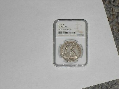 1872 Us Seated Liberty Silver Dollar Ngc Xf Extra Fine Free Shipping