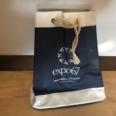 Expo 67 Bag Montreal Canada Canadian World's Fair Rope Handle