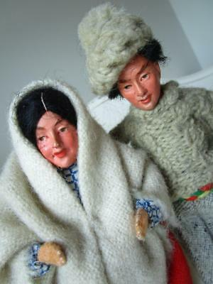 ~ Two Vintage Traditional Dolls ~ Jays ~ Handmade in Ireland ~