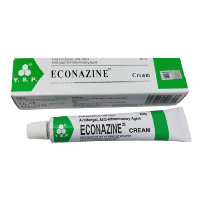 ECONAZINE Cream for Skin Allergies, Fungal Infection, Ringworm 2 X 20g