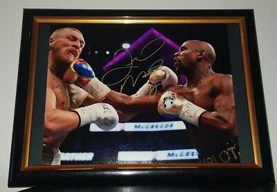Floyd Mayweather - Hand Signed Framed Photo With Coa - Conor Mcgregor Fight Ufc