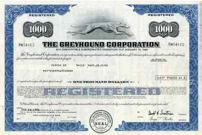 1976 Greyhound Corp Stock Certificate